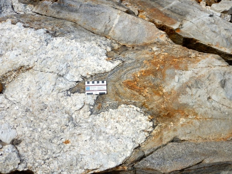 Paragneiss with pegmatite